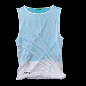 UNITED COLORS OF BENETTON white &  turquoise ombré